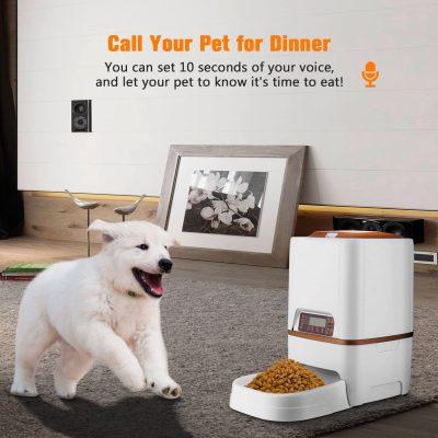 dispensador automatico de comida para perros y gatos dispensador de alimento con mensaje de voz para tu mascota